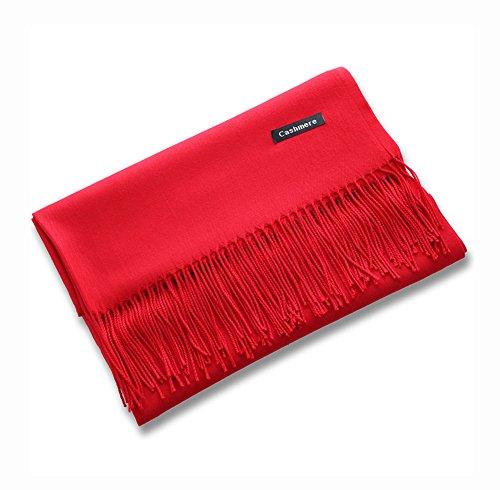 Cashmere Grand châle de luxe super doux rouge