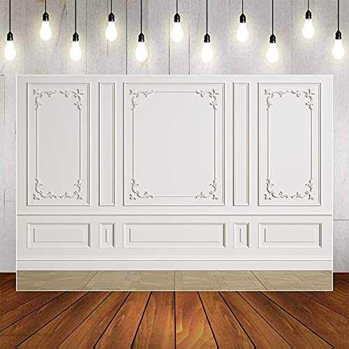 Fondo de fotografía Blanco Negro Pared Interior de la habitación Luz Retrato de bebé Fotografía de Boda Fondo de Pared Estudio fotográfico A9 9x6ft / 2.7x1.8m