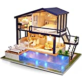 Piezas mecánicas Kit de casa de bricolaje en miniatura Muebles Casa de regalo ligera Casa de juguete Apartamento Modelo de casa de muñecas de bricolaje Muebles (Color: Multicolor Tamaño: Talla únic