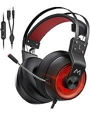 Mpow EG3 Pro Cuffie Gaming,Audio Surround 3D Bass, Cuffie per Computer PS4 Xbox con Microfono con Cancellazione del Rumore, Cuffie con Ecoscandaglio, Controllo del Volume per Laptop PC Mac Switch