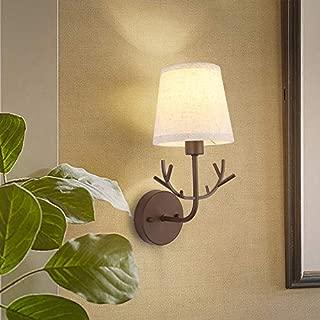 WENXIN Creative Wall Light Sconce Fixture ELK Antlers Acrylic Material Shade Hallway Wall Lamp Suitable for Living Room Bedroom Kitchen Bathroom Vanity Mirror Christmas