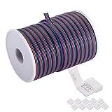 C-able, cavo di prolunga da 30,5 m, 22 AWG, 4 pin, RGB, con bobina, cavi per luci a LED, per 5050 3528, con 8 connettori per striscia LED RGB