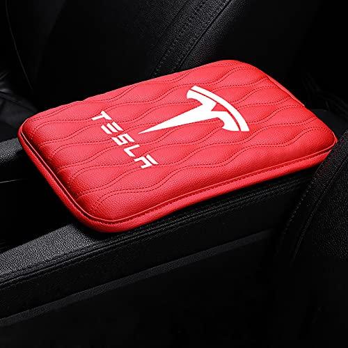 SUKLIER Car Styling Central Reposabrazos Caja CojíN Protector Reposabrazos Soporte Booster Pad Codo para Tesla Modelo 3 Y X S Accesorios De Coche
