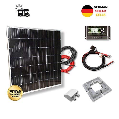 VIASOLAR Kit 200W Camper 12V Panel Solar monocristalino células alemanas