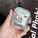 Felfy Kompatibel mit Airpods 1 und 2 Hülle,Kompatibel mit Airpods Hülle Transparente 3D Liquid Treibsand Flüssig Schutzhülle Kristall Klar Hart Plastik Hüllen Stoßfest Mädchen Junge Cover Hülle - London