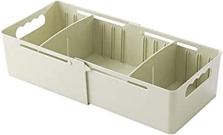 LIUguoo House Storage,Compartments Storage Box,Plastic Socks Underwear Finishing Box,Desktop Storage Drawer Storage