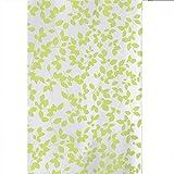 Gehobene Individualität Duschvorhang, PEVA Kunststoff wasserdicht transluzente weiche grüne Blätter drucken weißen Hintergr& Bad europäischen nehmen einen Bad Vorhang 180x200 (w x h) Persönlichkeit