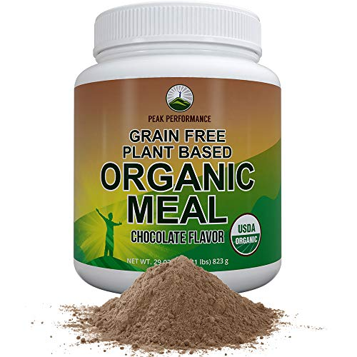 Organic Vegan Paleo Meal Replacement Powder. Grain-Free Complete Raw Plant Based Meal with 20g Plant Protein + Organic Greens and Reds (Chocolate)