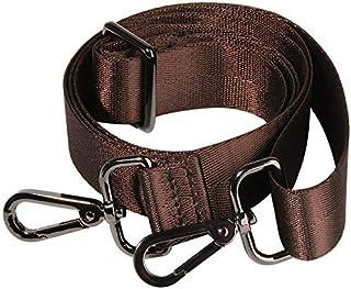 Nylon Canvas Long Strap Wallet/Shoulder/Crossbody Bag Replacement Strap Guitar Style Handbag Shoulder Strap for Women (Brown)