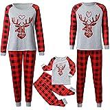 riou Weihnachten Schlafanzug Familie Pyjama Set Outfit Zweiteilige Hausanzug Sleepwear Rentier...
