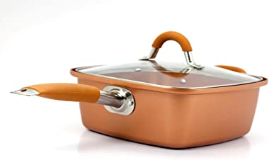 Inventel SP-MC2 SP-MC02 Square Copper Pan Pro, 9 1/2""