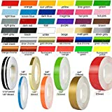 32 Feet Roll Vinyl Pinstriping Pin Stripe DIY Self Adhesive Line Car Tape Decal Stickers Fluorescent Yellow (1/12' & 1/6')