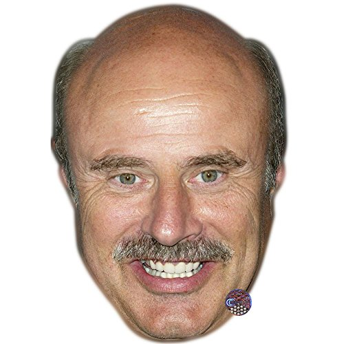 Dr Phil McGraw Celebrity Mask, Flat Card Face, Fancy Dress Mask