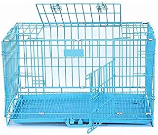 Pawwfect® 30 inch Iron and Plastic Cage with Removable Tray for Dogs and Rabbits (Blue)