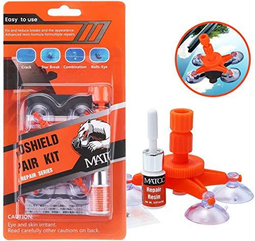 MATCC Kit de Reparación de Parabrisas de Resina Windshield Repair Kit Repare Reparación de Grietas en el Parabrisas del Vidrio del Coche Grietas en la Diana Grietas Radiales
