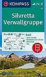 KOMPASS Wanderkarte Silvretta, Verwallgruppe: 4in1 Wanderkarte 1:50000 mit Aktiv Guide und Detailkarten inklusive Karte zur offline Verwendung in der ... Skitouren. (KOMPASS-Wanderkarten, Band 41)