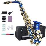 Eastrock Alto Saxophone Eb E-Flat, Instrument à Vent Laqué Doré, pour...