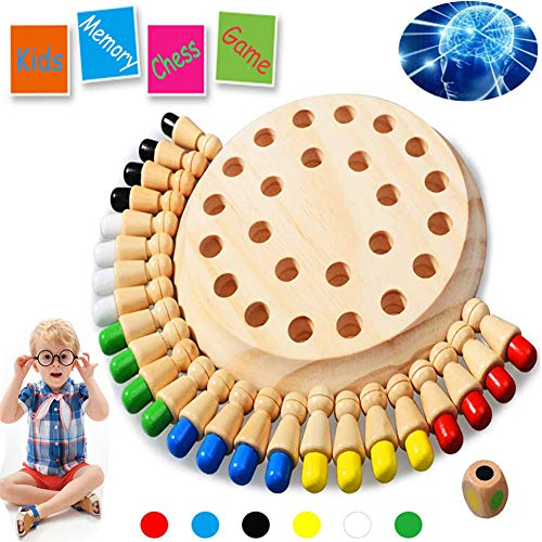 Newly Children Wooden Memory MatchstickChess Game Block Board Educational IntelligentGames Logic Braintease Toys for Boys and Girls