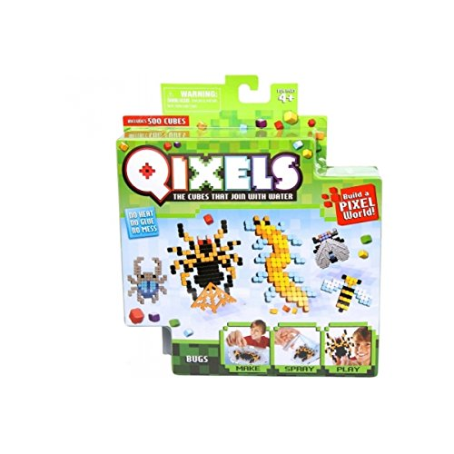 Asmokids Mini Kit with 4 Qixels Insect Creations Theme - Arts and Crafts - Boys Game