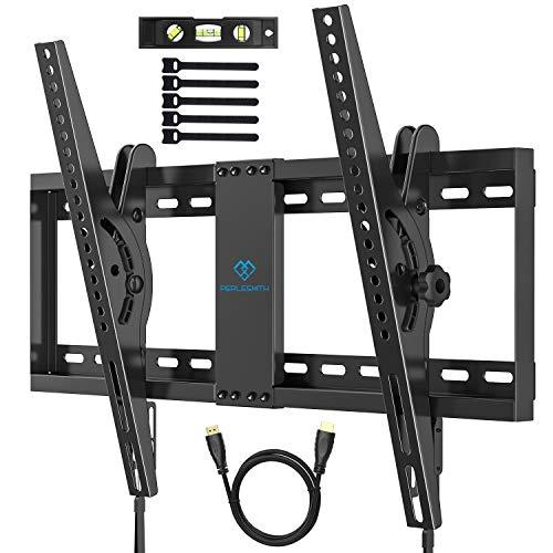 TV Wandhalterung Neigbare Halterung für 37-70 Zoll Flach&Curved Fernseher oder Monitor bis zu 60kg. Max VESA 600x400mm