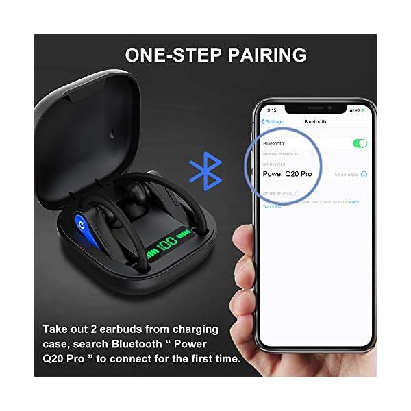 Wireless Earbuds, Bluetooth 5.1 Headphones Sport Wireless Earphones in Ear Noise Cancelling Earbuds with Mic Deep Bass…