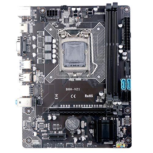 OVBBESS H81 Motherboard LGA-1150 CPU/DDR3 Memoria 16G ATX S-ATA II de doble canal adecuado para placas madre de computadora de escritorio