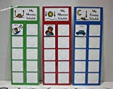 Daily Visual Picture Schedule W/ 3 Charts and 50 Colorful Picture Cards for Children/Adults W/Autism, Speech Delays