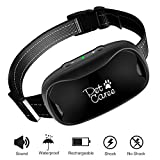 Petkare Bark Collar, [New Version] Humanely Stops Barking with Sound and Vibration. NO SHOCK,...