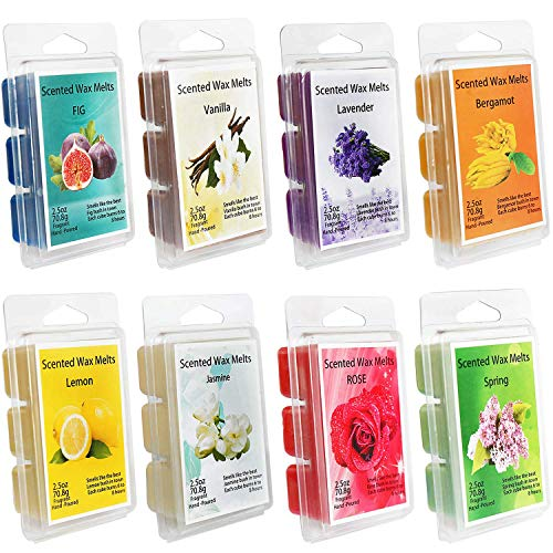 YIIA 100% Hand-Poured All Natural Soy Wax Scented Melts-8 Fragrances -...