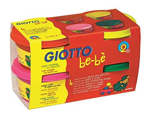 Giotto 10296pasta jugar Bebe ensamblados dermatologiquement 4Magenta tarros 100G varios