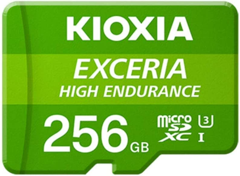 Kioxia 256GB microSD Exceria High Endurance Flash Memory Card U3 V30 C10 A1 Read 100MB/s Write 85MB/s LMHE1G256GG2