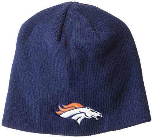 OTS NFL Denver Broncos Youth Beanie Knit Cap, Team Color, Youth