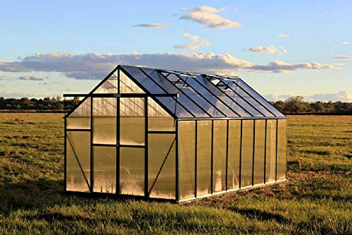 Grandio Ascent 8x16 Greenhouse Kit - 6mm Twin-Wall Polycarbonate