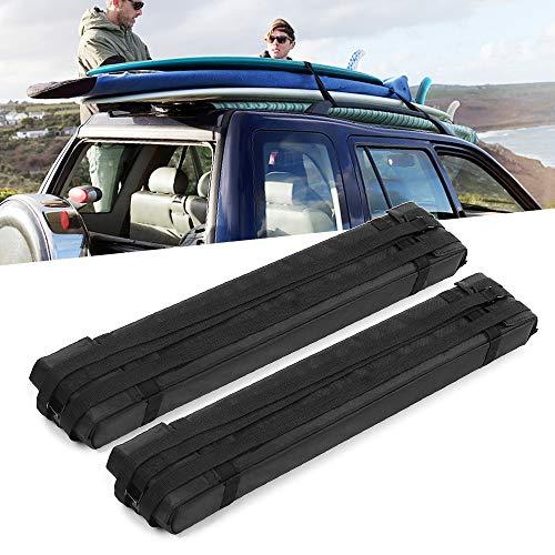 Explopur Barras de Barra de Techo de Bloque de Espuma Suave 2pcs para el Portador del Cargo de la Tabla de Surf del kajak del tejado del Coche