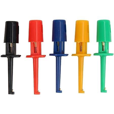 20pcs Test Hooks Multimeter Zubehör Bunte Kleine Federhaken Clip Test Probe Für Die Elektronische Prüfung Small Hook Clip Baumarkt