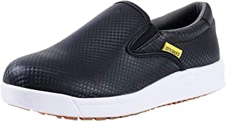 DDTX Work Kitchen Chef Shoes Unisex SRC Anti-Slip Oil and Water Resistant Anti Acid and Alkali Lightweight White&Black 3....