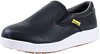DDTX Work Kitchen Chef Shoes Unisex SRC Anti-Slip Oil and Water Resistant Anti Acid and Alkali Lightweight White&Black 3.5...
