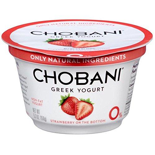 Chobani Strawberry on the Bottom Non Fat Greek Yogurt, 5.3 Ounce -- 12 per case