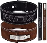 RDX Powerlifting Gewichthebergürtel Schnalle Rindsleder Bodybuilding Fitness Trainingsgürtel Gym Weightlifting Lever Belt Krafttraining (MEHRWEG)