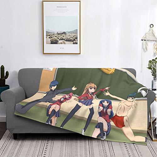 Toradora - Manta de micro pelo para adultos y niños, muy suave, muy grande, elegante y exquisita, anime80 x 60 pulgadas