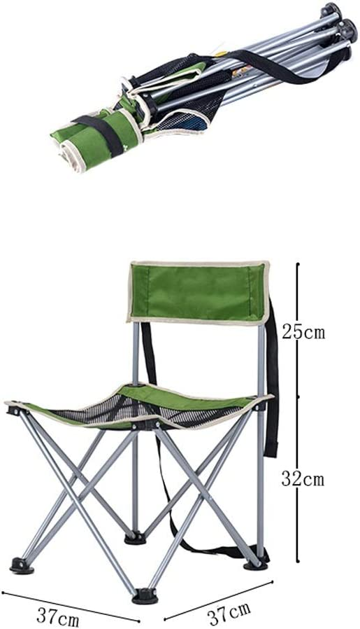 Chaise Longues Lot De 2 Portable Pliant Chaises De Camping Plage Patio Jardin En Plein Air La Pêche Petit Tabouret, 3 Couleurs (Color : Black+Green) Black+green