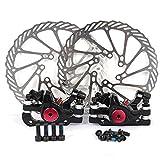Yorbay Fahrrad NV-5 Scheibenbremsen G3 160mm Bremsscheibe und vorne hinten Schwarz Bremse mit BB5 Bremsbeläge, 16 x 16 x 7 cm