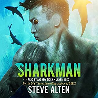 Sharkman audiobook cover art