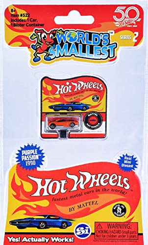 Worlds Smallest SI512 Cars Hot Wheels Set, Varies