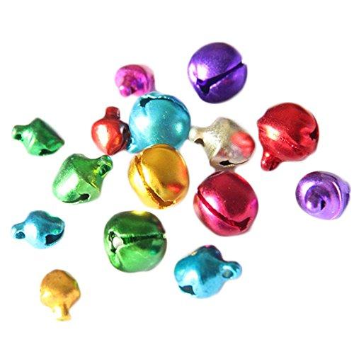 Cascabeles campanas abrazaderas con ojete redondo Mix Color Bunter Manualidades Metal cascabeles Mini colgante de denarkt