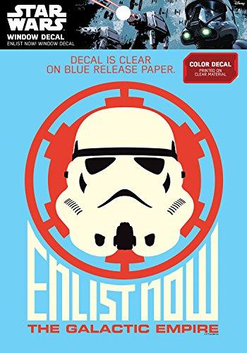 Star Wars Imperial Stormtrooper 'Enlist Now' Window Decal