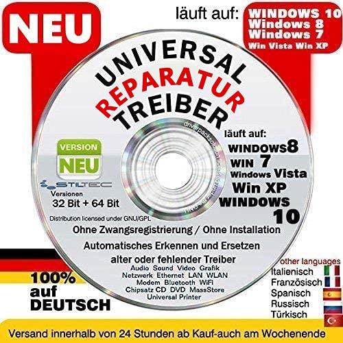LAN/ WLAN/ Sound & Grafikkarten Treiber für Windows 10 ® Win7+Win 8 + Vista + XP