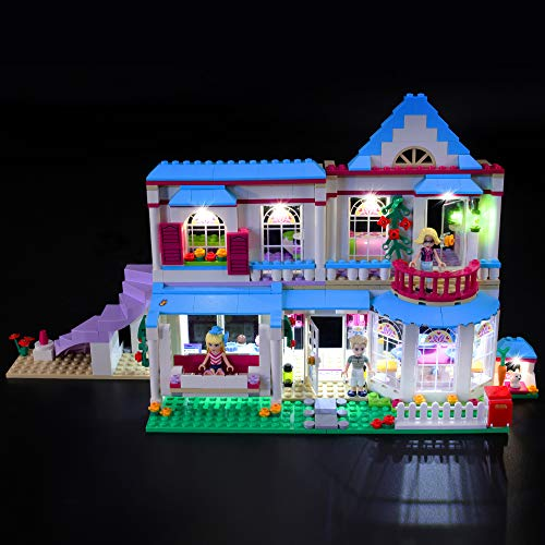 BRIKSMAX Kit di Illuminazione a LED per Lego Friends La Casa di Stephanie,Compatibile con Il Modello Lego 41314 Mattoncini da Costruzioni - Non Include Il Set Lego.