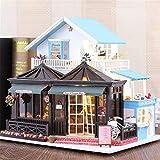 Nobrannd Kit casa delle Bambole in Miniatura Fai da Te Doll House Incisione Tempo 30 * 9 * 27 Centimetri con...