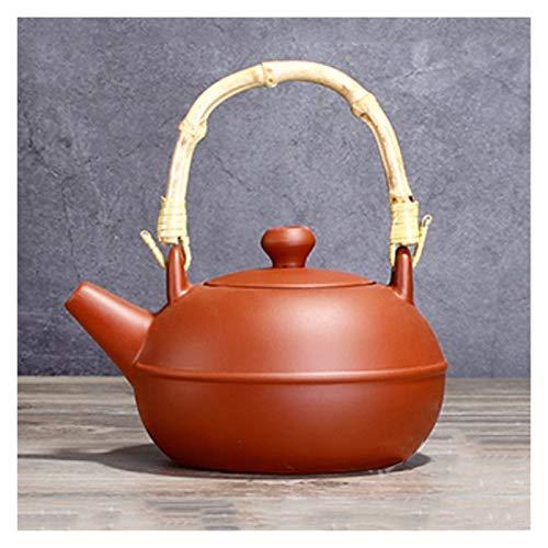Handmade Czajnik Przenośny Czajnik Chiński Styl Fioletowy Clay Materiał Czajnik Lekki Teapot Ekspres do kawy (500ml, 16.9oz) (Color : Red)